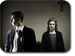 Aaron Monaghan and Aoife Duffin in Christ Deliver Us